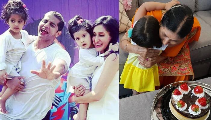 Karanvir Bohra And Teejay Sidhu's Little Daughters, Bella And Vienna Celebrate Their Nani's Birthday