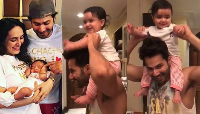 Varun Dhawan Becomes Chachu No 1 As He Gives Piggyback Ride To His Niece, She Can't Stop Giggling