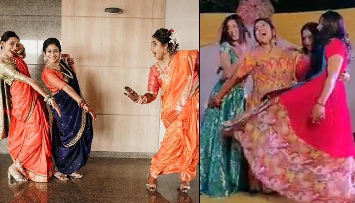 This Bride's Killer Dance Moves On 'Teri Aakhya Ka Yo Kajal' With Her Bridesmaids Goes Viral