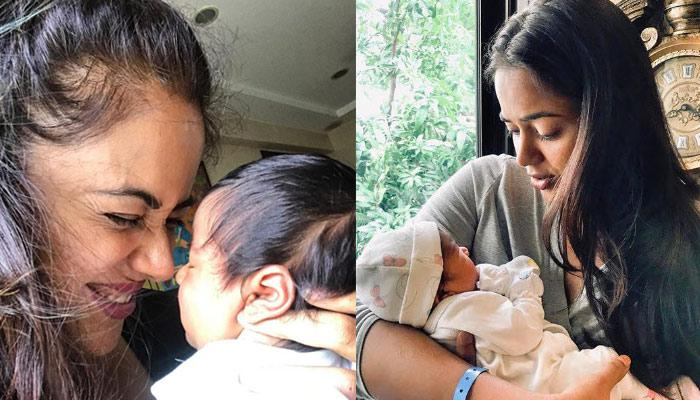 Sameera Reddy's Daughter, Nyra Steps Out For Her First Outing After 40 Days Of Her Birth (Pic)