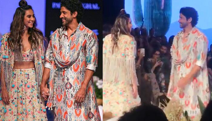 Farhan Akhtar's Impromptu Moves Made Shibani Dandekar Blush, Walk The Ramp As A Couple At LFW