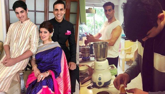 Akshay Kumar And Twinkle Khanna's Son, Aarav Bhatia Cooks A Delicious Meal For His Star Parents