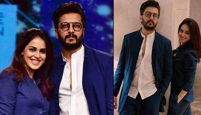 Riteish Deshmukh And Genelia D'Souza's 'Same Same But Different' Twinning At Lakme Fashion Week 2019