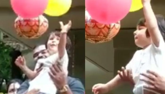 Taimur Ali Khan Looks Adorable As He Celebrates His First Dahi Handi On Janmashtami, Video Inside
