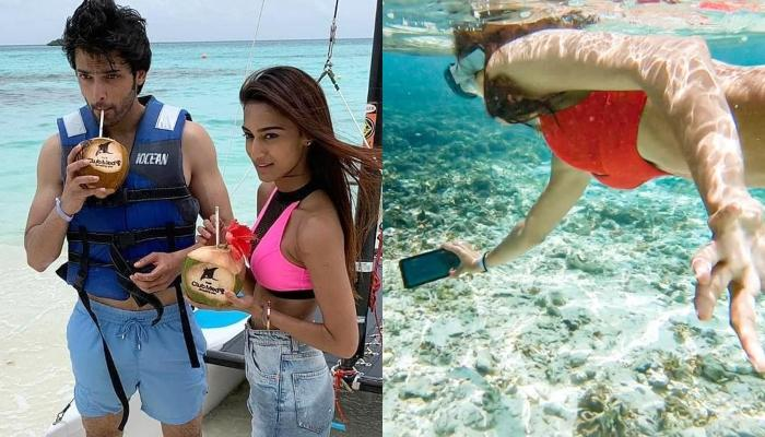Erica Fernandes And Parth Samthaan Enjoy Their Vacation Amidst Sun, Sand And Beaches In Maldives