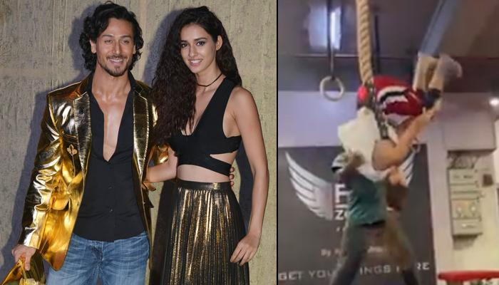 Disha Patani Impresses Beau Tiger Shroff With A Somersault Attempt, Their Banter Is 'All About Love'