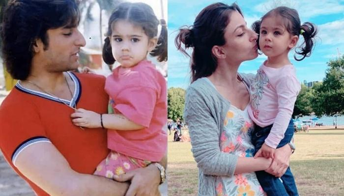 Sara Ali Khan's Childhood Picture Feeding Daddy, Saif Ali Khan Reminds Us Of Her Cousin, Inaaya