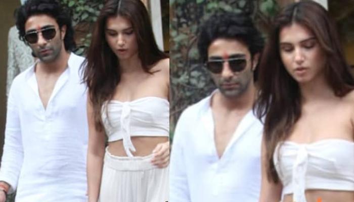 Tara Sutaria Twins In White With Rumoured Boyfriend, Aadar Jain, Their Pictures Speak Love