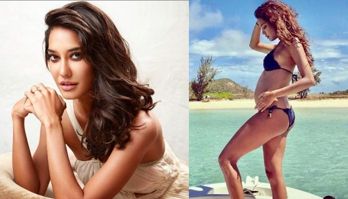 Lisa Haydon Flaunts Her Baby Bump In The Latest Photoshoot Wearing A Bodycon Dress