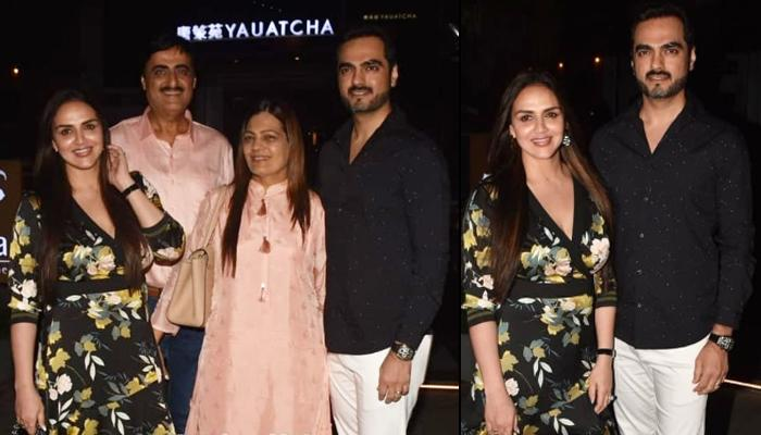 Esha Deol Twins In Black With Hubby, Bharat Takhtani On Their Family Dinner With Her Parents-In-Law