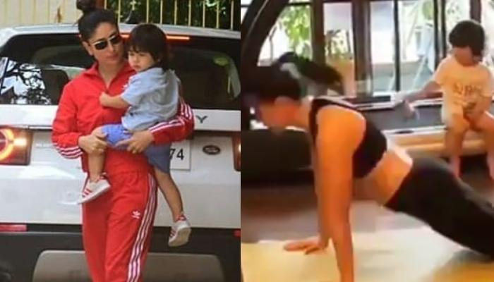 Kareena Kapoor Khan Indulges In Her Morning Yoga Routine While Baby Taimur Cutely Watches Her