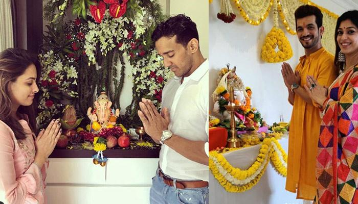 Anita-Rohit, Maniesh-Sanyukta, Arjun-Neha, Gurmeet-Debina; TV Celebs Welcome Ganpati In Their Homes