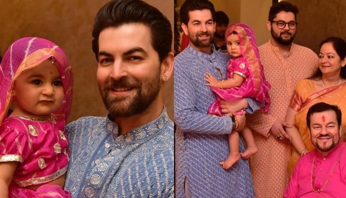Neil Nitin Mukesh's Daughter, Nurvi Dresses Up In A Pretty Lehenga To Welcome Ganpati Bappa At Home