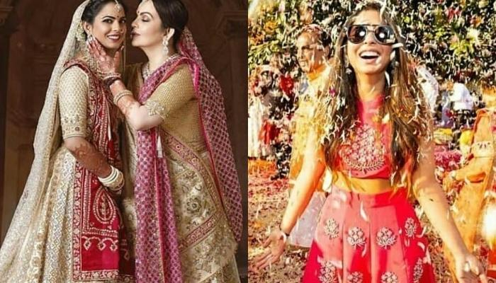 Nita Ambani Poses With Isha Ambani As They Celebrate Her First Ganesh Chaturthi After Wedding