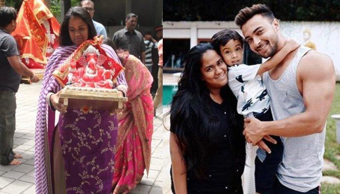 Arpita Khan Sharma Looks Heavily Pregnant As She Celebrates Ganesh Chaturthi With Her Family