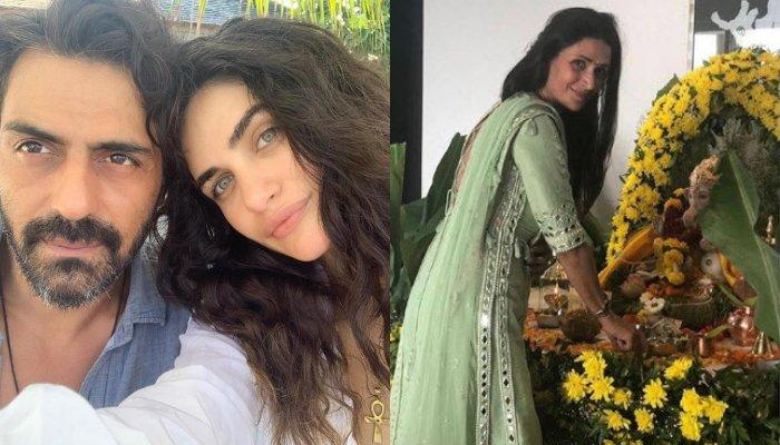 Arjun Rampal Celebrated Ganesh Chaturthi At Ex-Wife, Mehr Jesia's House With GF, Gabriella And Son?