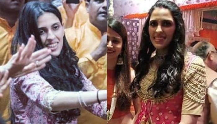Shloka Mehta Flaunts A Pretty Lehenga For Her First Ganesh Chaturthi Celebration After Wedding