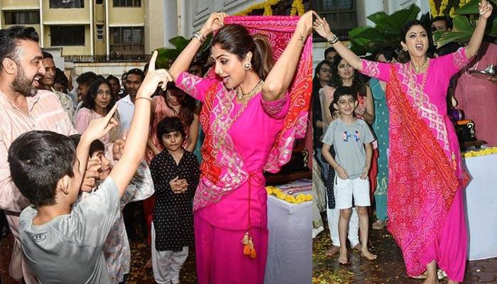 Shilpa Shetty Kundra And Raj Kundra Dance With Their Son, Viaan, As They Bid Adieu To Ganpati Ji