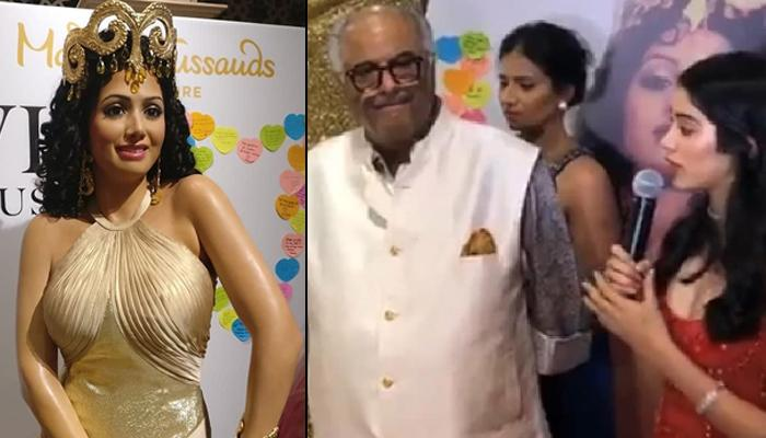 Boney Kapoor, Janhvi Kapoor And Khushi Kapoor Get Emotional As They Unveil Sridevi's Wax Statue