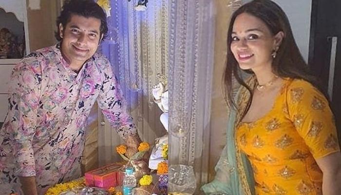 Sharad Malhotra And Ripci Bhatia Celebrate Their First Ganesh Chaturthi After Wedding, Pics Inside