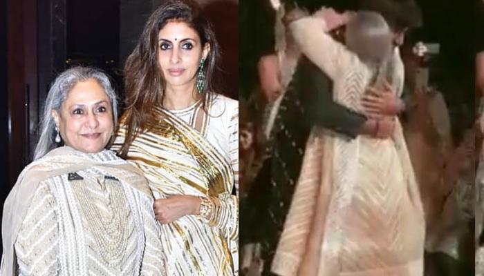 Jaya Bachchan Hugs Navya Naveli Nanda's Rumoured Boyfriend, Meezaan At Abu Jani Sandeep Khosla Show