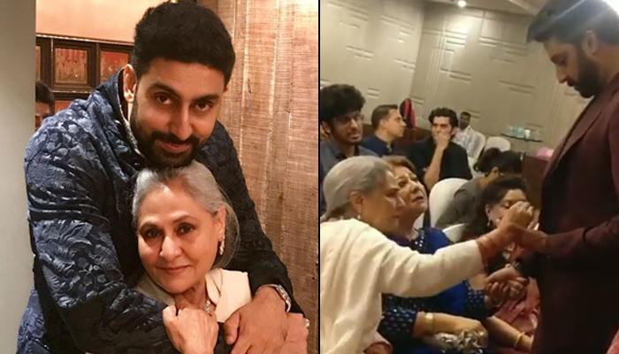 Jaya Bachchan Removing Something Off Abhishek Bachchan's Blazer Is Basically Every Mom Ever