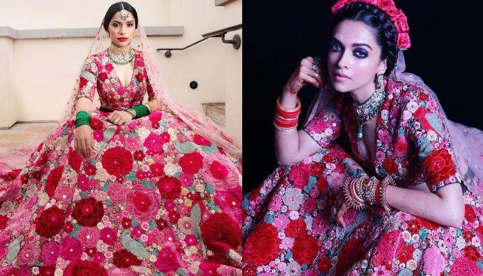 NRI Bride Wore Deepika Padukone's 'Dil Guldasta' Reception Lehenga At Her Wedding, Looked Heavenly