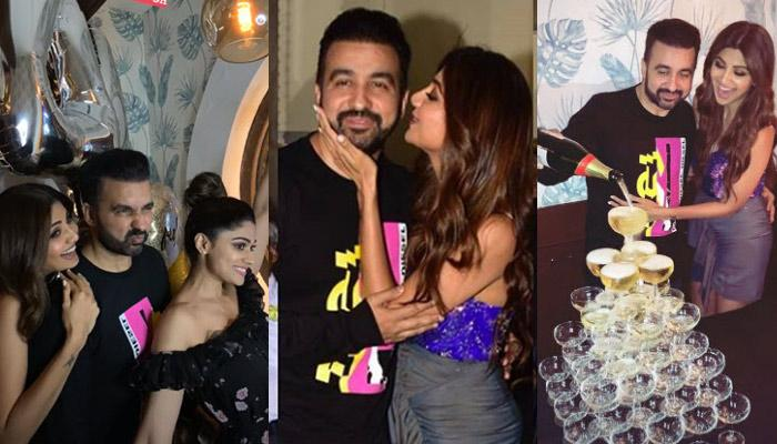 Shilpa Shetty Showers Raj Kundra With Kisses On His Birthday Bash, Celebrates His Day In Style