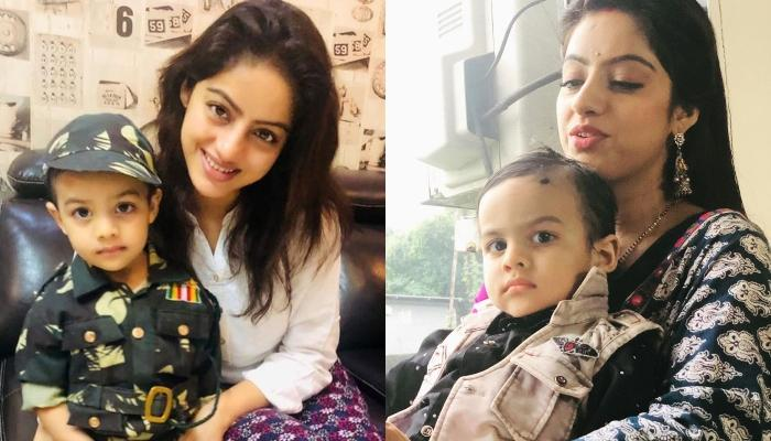 Deepika Singh's Son, Soham Pays A Visit On The Sets Of Her Show, 'Kawach'