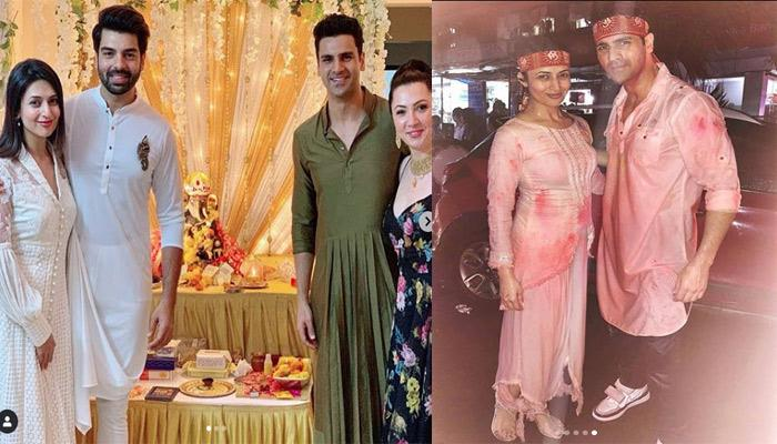 Divyanka Tripathi Celebrates Ganesh Chaturthi With Hubby Vivek Dahiya And Her In-Laws In Chandigarh