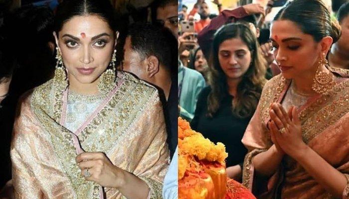 Deepika Padukone Celebrates Her First Ganesh Chaturthi Post Wedding, Looks Gorgeous In A Saree