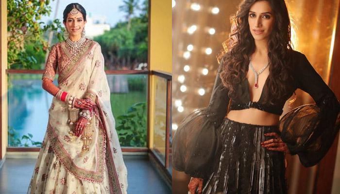 This Bride Broke Norms By Wearing Dazzling White Lehenga On Her Wedding And Black On Her Sangeet