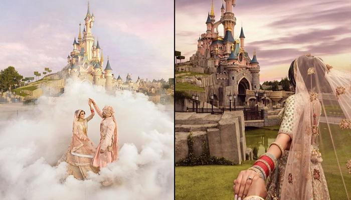 This Indian Couple's 'Desi Style Shaadi' At Disneyland Paris Is What A Fairytale Wedding Looks Like