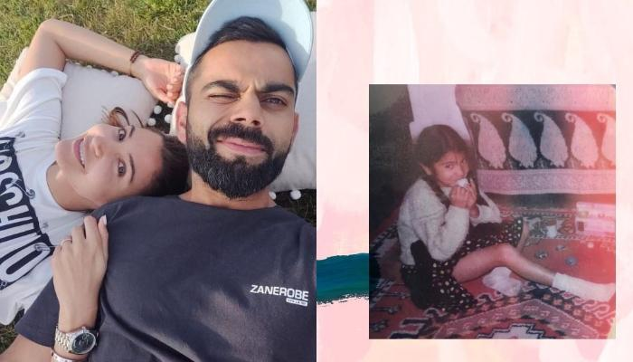Virat Kohli's Comment On Wife Anushka Sharma's Childhood Photo Is Winning Our Hearts