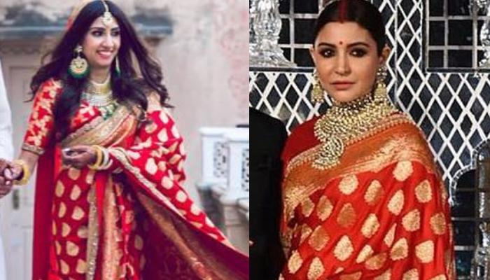 This Bride Wore Anushka Sharma's Red Saree From Delhi Reception For Her Wedding But With A Twist