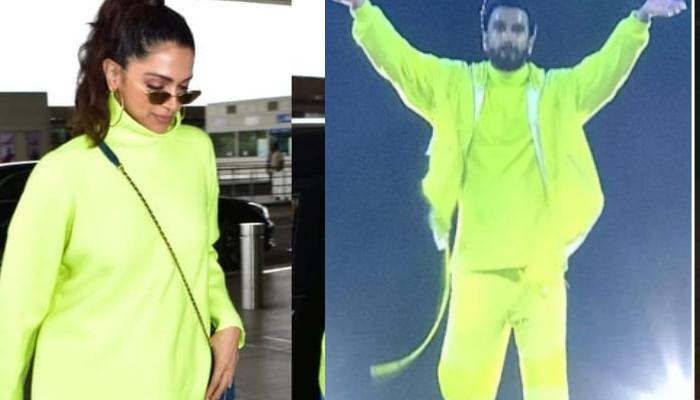 Deepika Padukone Borrows Husband, Ranveer Singh's Flashy Neon Green Sweatshirt, Giving Us Goals