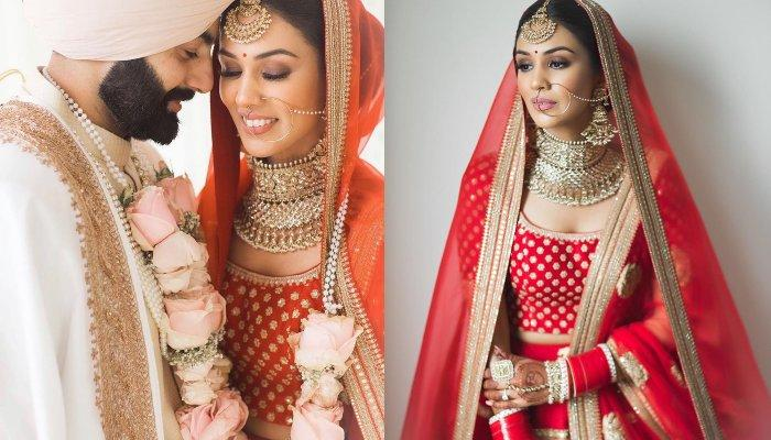 This NRI Bride Wore A Sabyasachi Lehenga With No Embroidery On It, Proved Minimal Is The New Trend