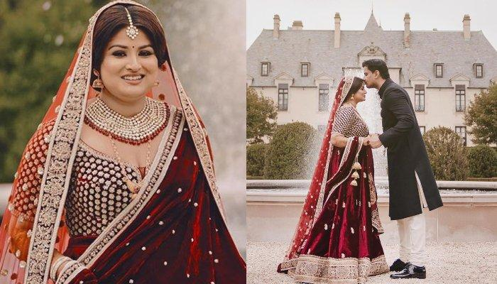 A Curvy Sabyasachi Bride Opted For Broad Beautiful Neckline At Her Castle Wedding And Looked Amazing