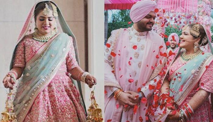 This Curvy Bride Donned A Pretty Pastel Pink Lehenga With Double Dupatta, Giving Us Styling Lessons