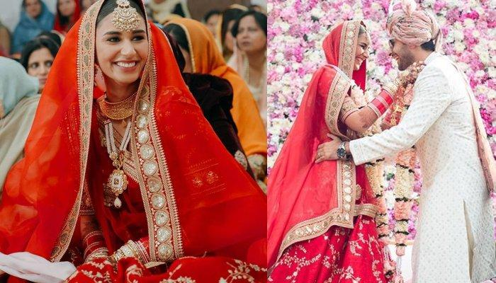 Miss India Earth, Hasleen Kaur Looked Gorgeous In A Red Sabyasachi Lehenga For Her Sikh Wedding