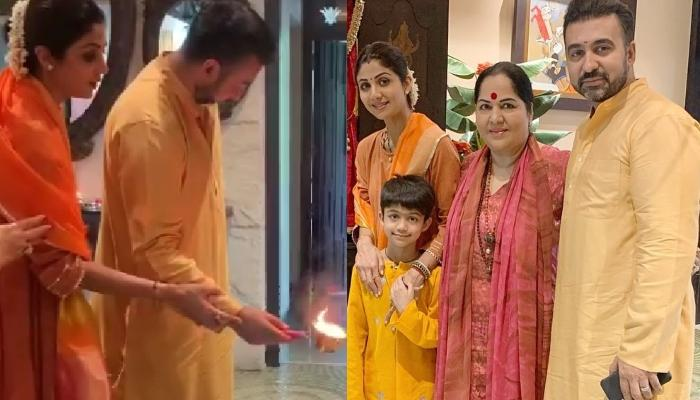 Shilpa Shetty Kundra Celebrates Navratri Puja With Husband, Raj Kundra And Son, Viaan