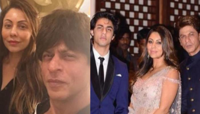 Shah Rukh Khan And Wife, Gauri Khan Twin In KKR Masks As They Appear For IPL Match With Aryan Khan