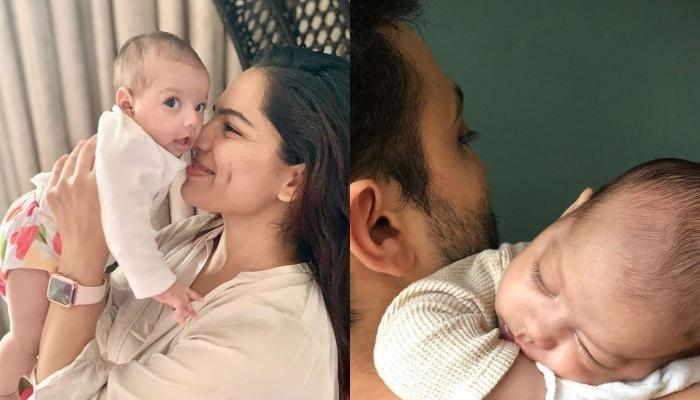 Shikha Singh Cuddles With Her Baby Girl, Alayna And Hubby, Karan Shah In The Perfect Family Picture