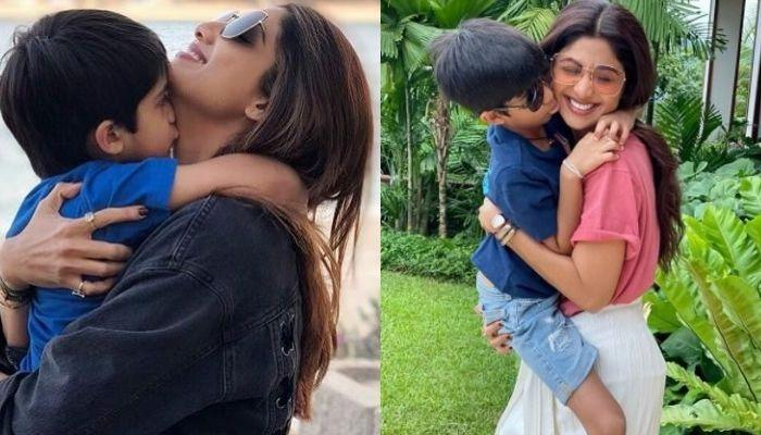 Shilpa Shetty Leaves For Shoot, Son, Viaan Looks Upset As He Goes To See Her Off At The Airport