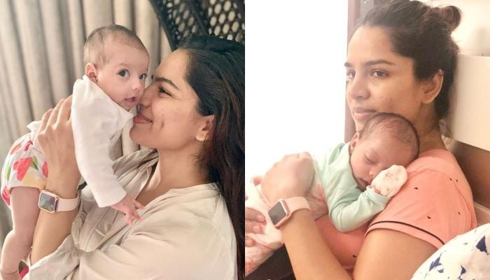 Shikha Singh Expresses Her Excitement When Her Baby, Alayna Sits On Her Own, Shares A Cute Picture