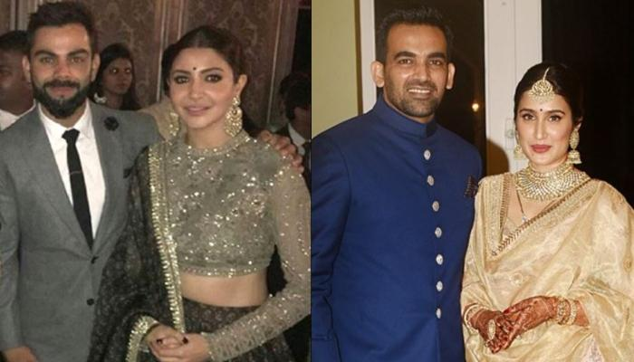 When Anushka Sharma-Virat Kohli Posed With Zaheer Khan-Sagarika Ghatge At Latter's Wedding Reception