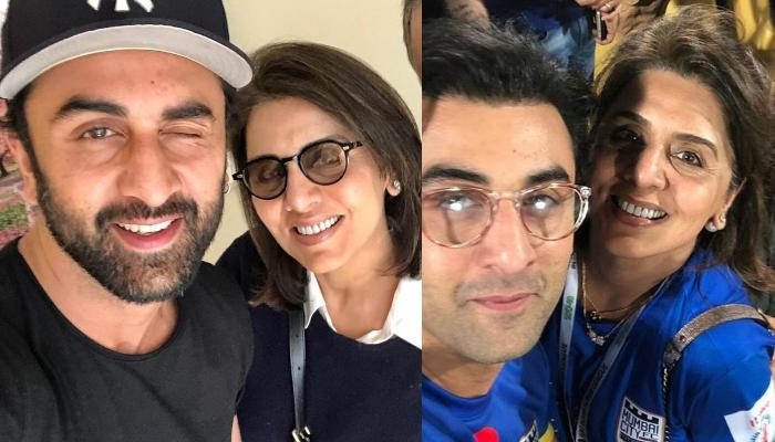 Ranbir Kapoor Spotted With Mommy, Neetu Kapoor At The Kapoor Bunglow, Rides A Cool New Bike