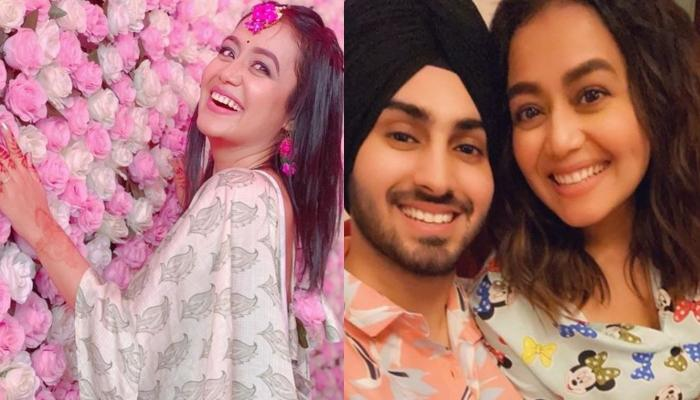 Neha Kakkar And Rohanpreet Posing With Family For A Picture Hints At Their Roka Amid Wedding Rumours