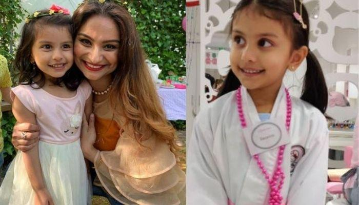 Dimpy Ganguly's Daughter Goes For A Nail Spa Session With Her Friends, The Little One Looks Excited
