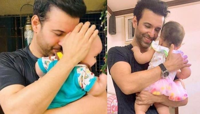 Aamir Ali Twins In Yellow With His 'Jaan', Ayra Ali, And Little One Shines Brighter Than Her Father